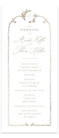 Reflection Foil-Pressed Wedding Programs
