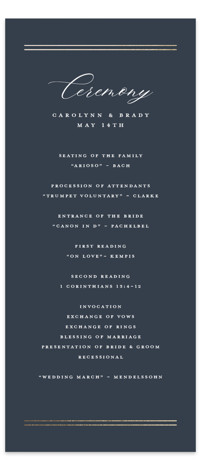 The Biltmore Foil-Pressed Wedding Programs