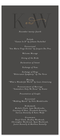 Over Monogram Foil-Pressed Wedding Programs