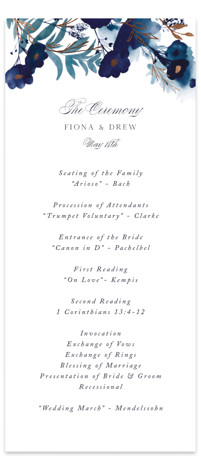 Splendid Ink Foil-Pressed Wedding Programs
