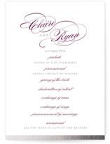 Edged Conservatory Foil-Pressed Wedding Programs