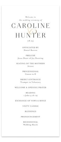 Entwine Foil-Pressed Wedding Programs