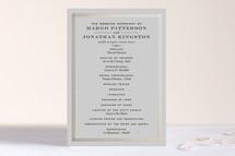 Foil-Pressed Wedding Programs