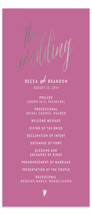 Charming Love Foil-Pressed Wedding Programs