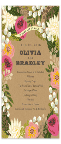 Floral Canopy Foil-Pressed Wedding Programs