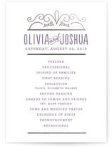 Luxe Impression Foil-Pressed Wedding Programs