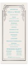 Antique Lines Foil-Pressed Wedding Programs