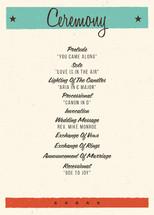 MidCentury Poster Board Wedding Programs