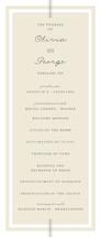 Three Classic Lines Wedding Programs