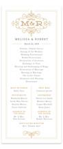 Ornate Monogram Unique Wedding Programs