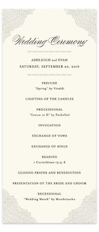 Splendorous Wedding Programs