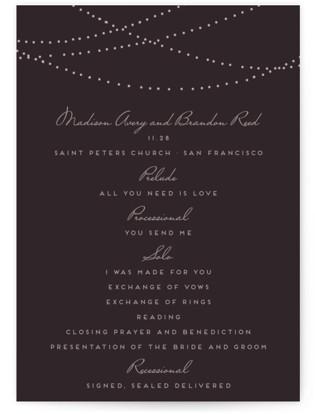 Lavish Wedding Programs