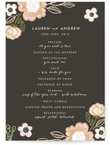 Botanical Wreath Unique Wedding Programs