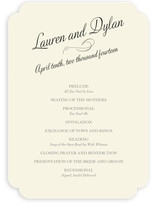 Just My Type Unique Wedding Programs