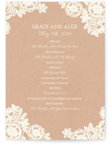 Lace and Kraft Unique Wedding Programs