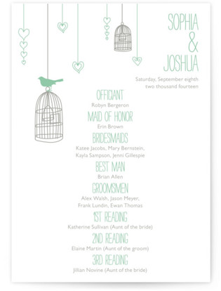 Love Let Loose Wedding Programs