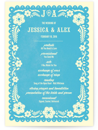 Papel Picado Wedding Programs
