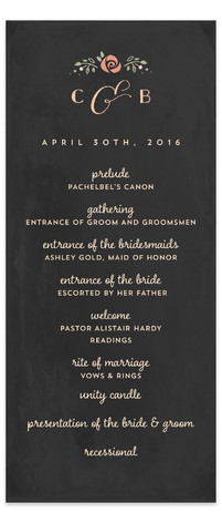 Merriment Wedding Programs