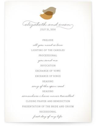 Nestled Wedding Programs
