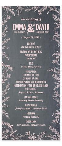 Woodland Romance Wedding Programs