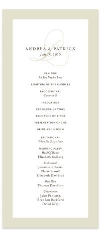 Initial Script Wedding Programs