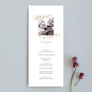 Elegant Script Unique Wedding Programs