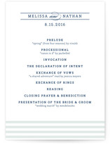 Nautical Unique Wedding Programs