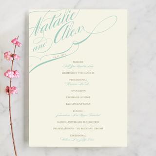 Winter Flourish Unique Wedding Programs