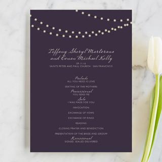 Midnight Vineyard Unique Wedding Programs