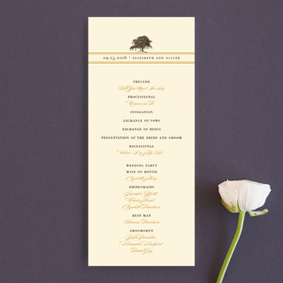 Oak Tree Unique Wedding Programs