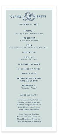 Rope Ampersand Wedding Programs