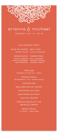 Love Blossoms Wedding Programs