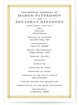 Majestic Wedding Programs