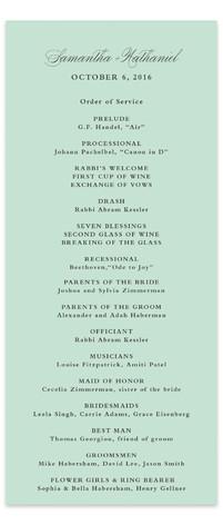 Notable Wedding Programs