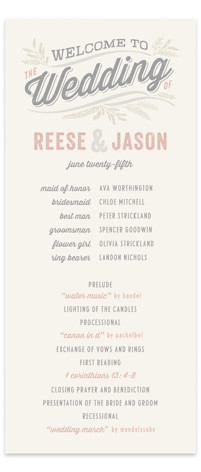Rustic Charm Wedding Programs