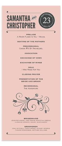 Vintage Blush Wedding Programs