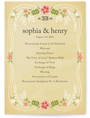 Wisteria Wedding Programs