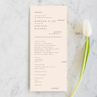 Adagio Wedding Programs