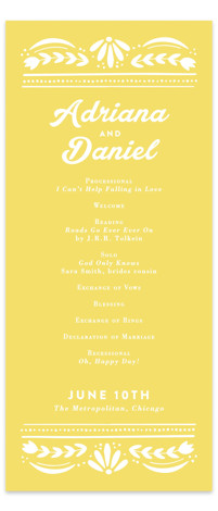 Pretty Picado Wedding Programs