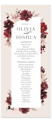 Emyn Wedding Programs