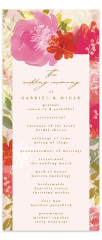 Delightful Wedding Programs