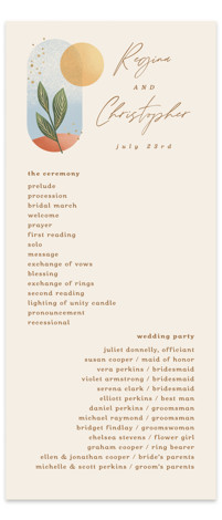 Essence Wedding Programs