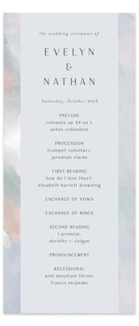 Evelyn Wedding Programs