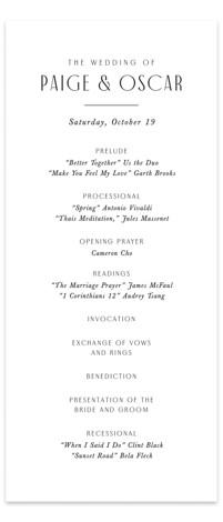 Arcadia Wedding Programs