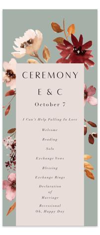 Serenata Wedding Programs