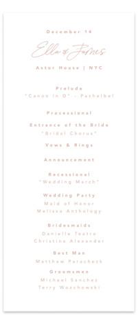 Party Accordingly Wedding Programs