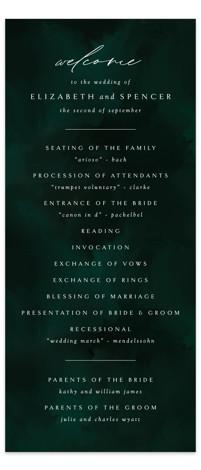 emerald Wedding Programs