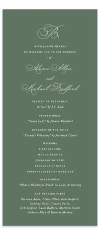 Initial Wedding Programs