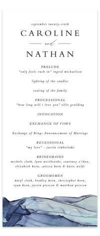 Slate Wedding Programs