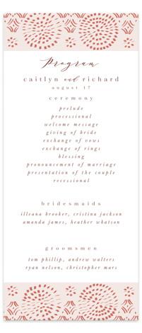 Terracotta Wedding Programs